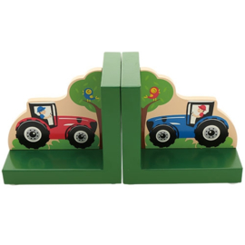 Boekensteun Tractor groen