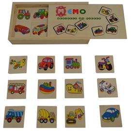 houten Memory, geheugenspel vervoer 32 delig