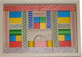 """Houten bouwdoos blokken """"Junior"""" , egmont toys"""