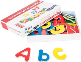 Houten magneten letters alfabet, small foot