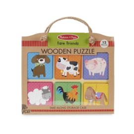 Houten puzzel boerderij dierenvriendjes