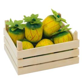 Houten  speelgoed kistje met ananas