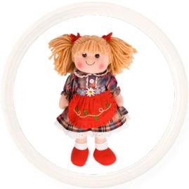 Stoffen pop Mandie, blond haar, 34 cm , Bigjigs