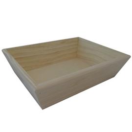Grenen bak van blank hout