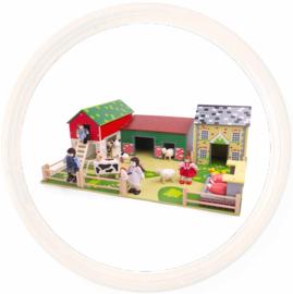 Tidlo houten speelgoedboerderij - De Oldfield Farm