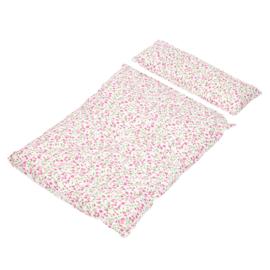 Dekje voor poppenwagens, roze Bloem