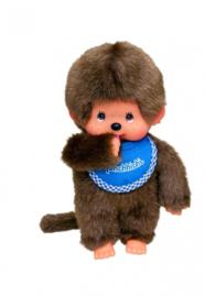 Monchhichi jongen met blauwe slab (20 cm)
