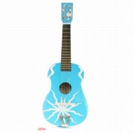 Houten gitaar blauw