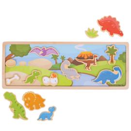 Magnetisch bord, puzzel, Dinosaurus, BigJigs