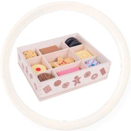 Houten speelgoed koekjes in Box
