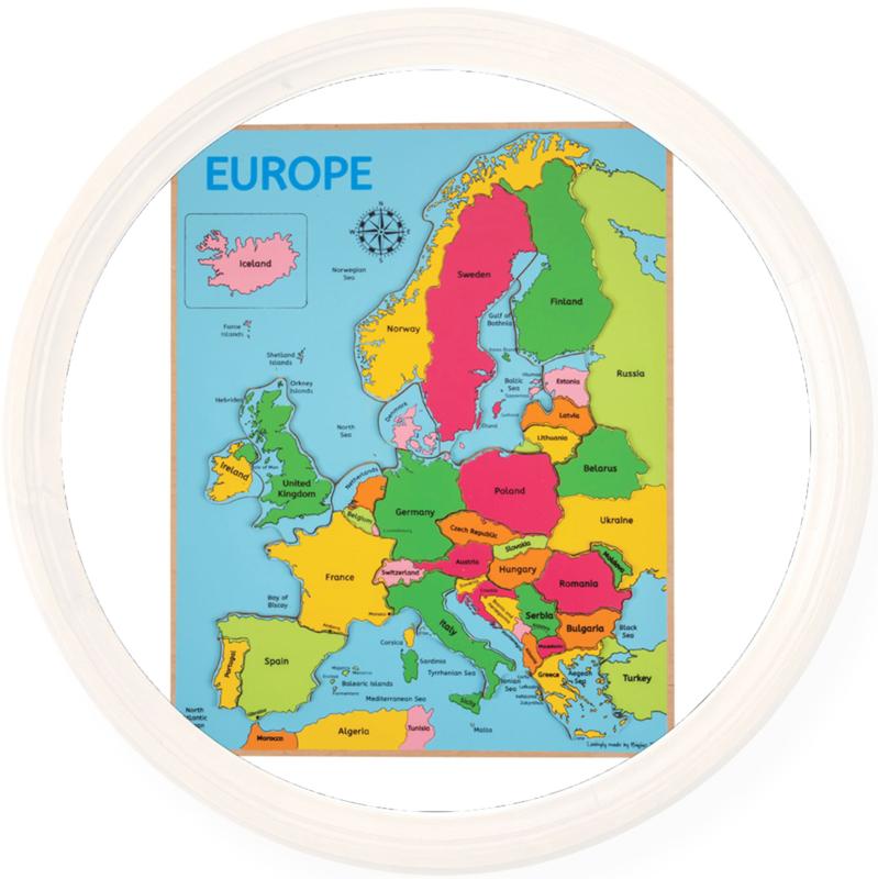 Houten puzzel Europa, Bigjigs