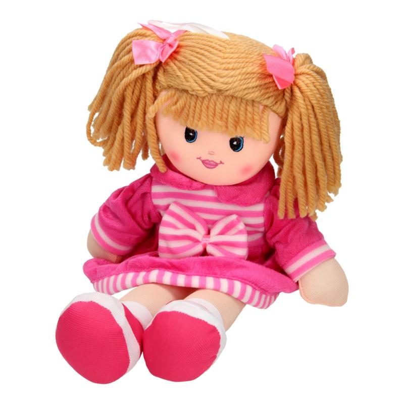 Stoffen pop meisje