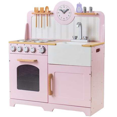 Houten speelgoed keuken Country roze
