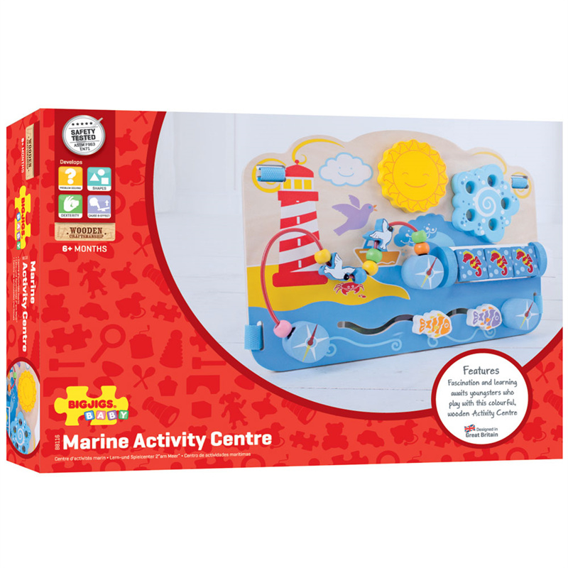 Houten speelgoed activity centre Marine voor babies, bigjigs