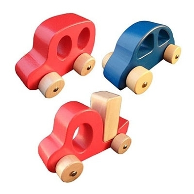 Grijpauto rood of blauw, per 1 stuk