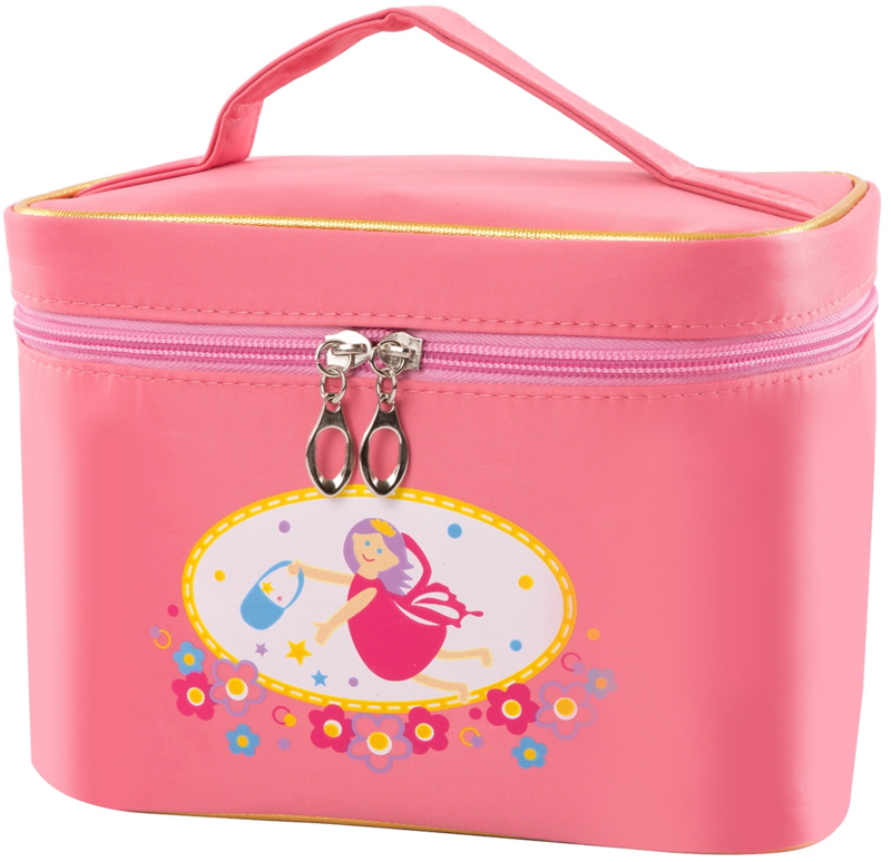 Houten speelgoed  make up in toilettas, roze