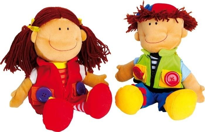 Stoffen poppen motoriek Nicoletta & David