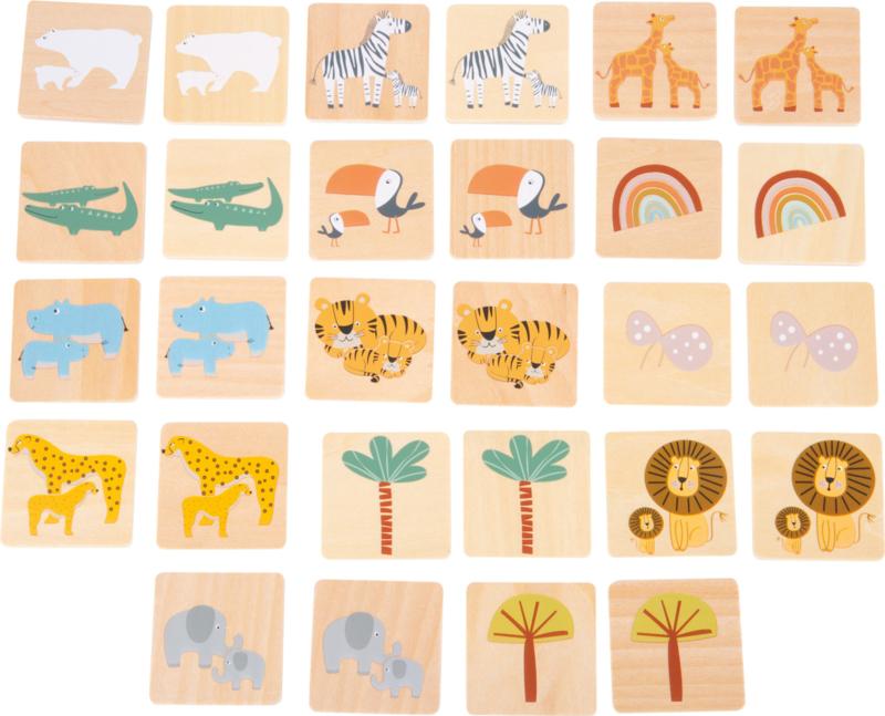 Houten memo in kistje, Safari