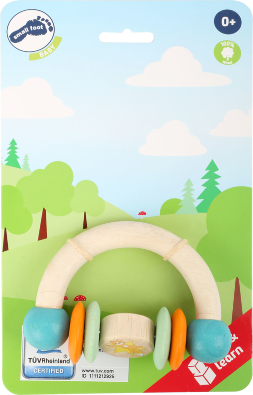Houten Grijp speelgoed -Rammelaar, Lex de Vos, Small Foot