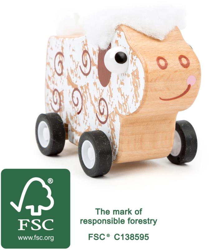 Small Foot pull-back schaap, FSC® duurzaam hout