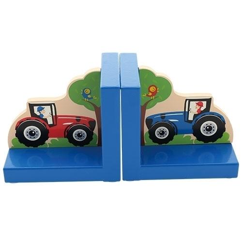 Boekensteun Tractor blauw