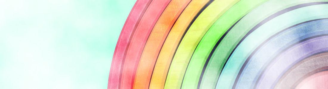 regenboog groot gemaakt van hout