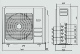 Ariston Nevis Multi-split Buiten-unit 12 kW