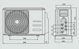 Ariston Nevis Multi-split Buiten-unit 8 kW