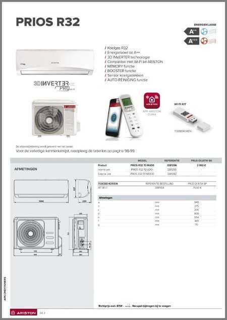 Brochure Ariston Prios R32