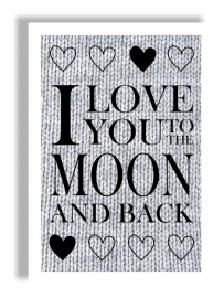 Kaart 'I love you to the moon and back'