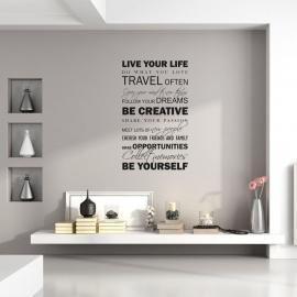 Muursticker 'Live your Life'
