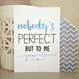 Postkaart / Interieurkaart 'Nobody's perfect'