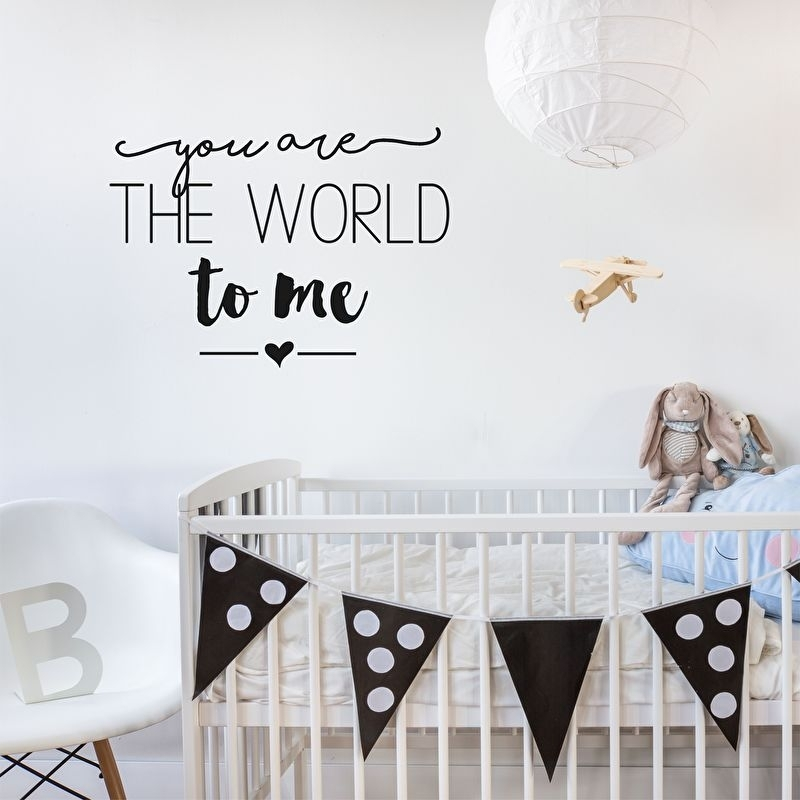 Muursticker 'You are the world to me'