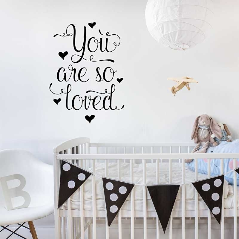 Muursticker 'You are so loved' - zoet