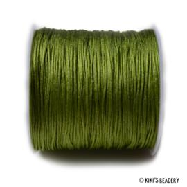 1 meter groen macrame nylon koord 0.8mm