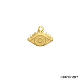 DQ gouden oog bedel 14x11mm