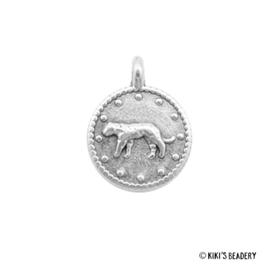 DQ zilveren luipaard munt bedel