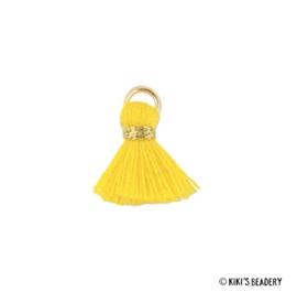 Mini kwastje ananas geel 1,5cm