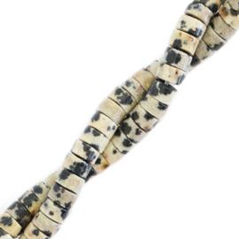 Natuursteen disc kralen dalmatier 4mm