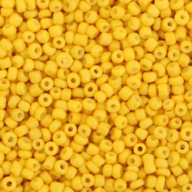 Rocailles 2mm Banaan geel
