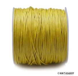 1 meter Waxkoord geel 1mm