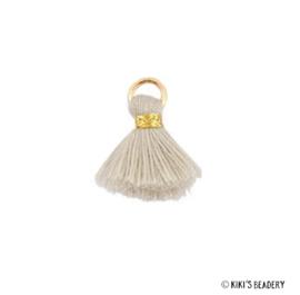 Mini kwastje Goud Beige 1.5cm