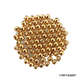 Gold Plated gouden bead spacers 4mm 10 stuks