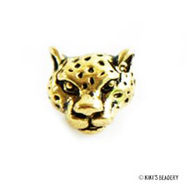 Luipaard hoofd kraal goud