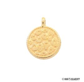 DQ gouden luipaard print munt bedel