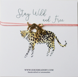 Stay Wild and free - Luipaard bedel bandje