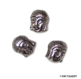 3 Buddha kralen 11x9mm zilver