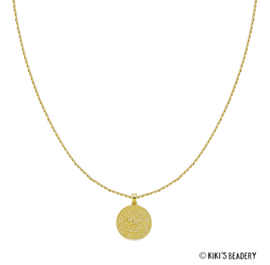 Strong Lion munt ketting goud