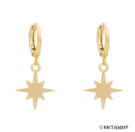 Universe stars oorringen goldplated