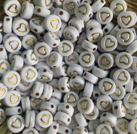 20 gram Gouden hartjes kralen